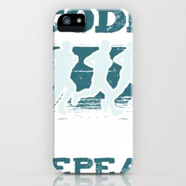 Code Run Repeat I Running Tee For Developers and Programmers iPhone Case