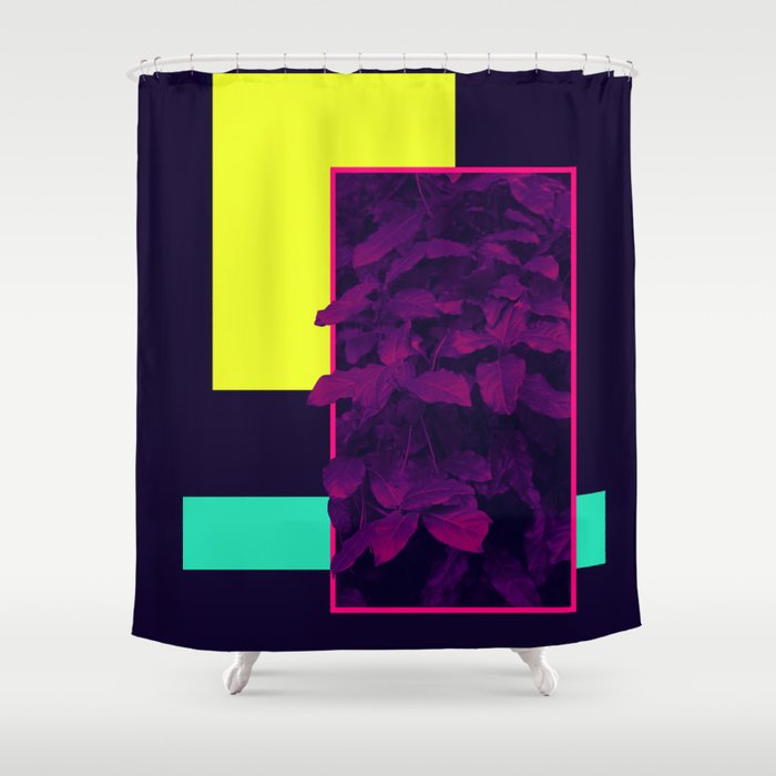 Neon Bush Society6 Retro Shower Curtain