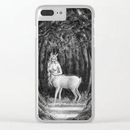 Deer girl Clear iPhone Case