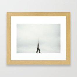Paris in the Clouds Framed Art Print