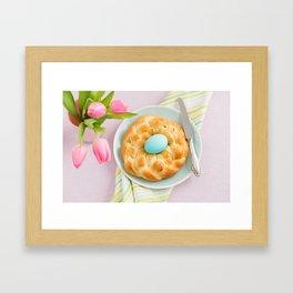 Easter breakfast table Framed Art Print