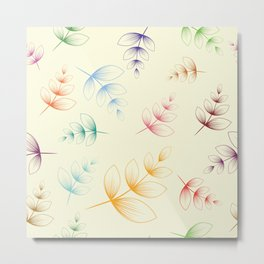 Colorful leafes Metal Print
