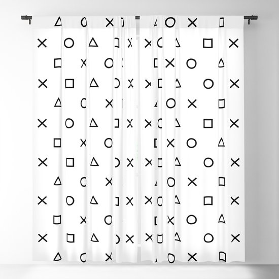 Playstation Controller Pattern (Black on White) by xooxoo