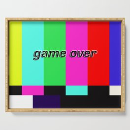 Game Over Serving Tray