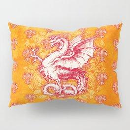 Noble House GINGER FIRE / Grungy heraldry design Pillow Sham