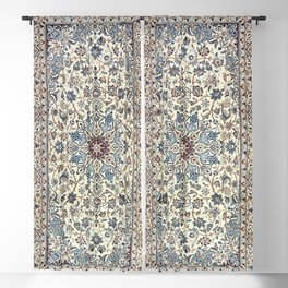 Persia Old Century Authentic Colorful Dusty Blue Gray Grey Vintage Accent Patterns Blackout Curtain