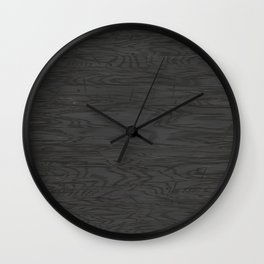 Grunge dark old panel Wall Clock