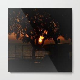 SUNSET ON NATURE WHIT SEA Metal Print