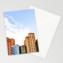 buildings of the New York New York hotel at Las Vegas, USA Stationery Cards