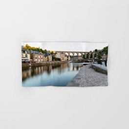 The Habour of  Dinan in France Hand & Bath Towel