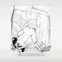apollonia Shower Curtains featuring asc 547 - My New Year's resolutions - November by From Apollonia with Love