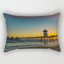 September Skies Over Huntington Beach Pier Rectangular Pillow