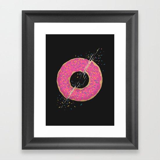 Donut Slices Framed Art Print