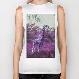 Wild Giraffe in Pink Biker Tank