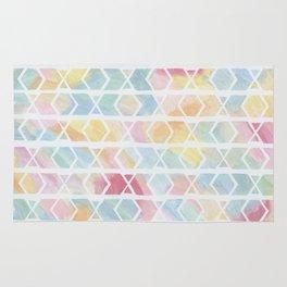 Chevron Pattern Watercolor Rug