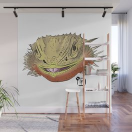 Bearded Dragon Face Wall Mural