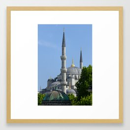 Blue Mosque, view from Sultanahmet, Istanbul, Turkey Framed Art Print