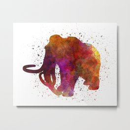 Mammoth dinosaur in watercolor Metal Print