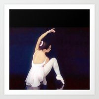 ballerina Art Prints featuring Ballerina by Ray Cowie