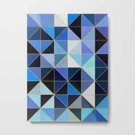 Golden geometric pattern XVIII Metal Print