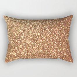 Bright Shiny Spanish Galleon Gold Glitter Rectangular Pillow
