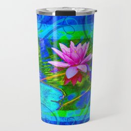 Lotus Blossom Blues Travel Mug