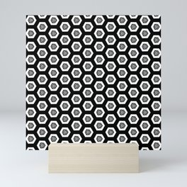 Beehive Black Mini Art Print