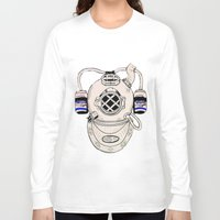 scuba Long Sleeve T-shirts featuring Scuba Kid by Paula Bridgewater