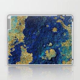 Indigo Teal and Gold Ocean Laptop & iPad Skin