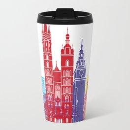 Krakow skyline pop Travel Mug