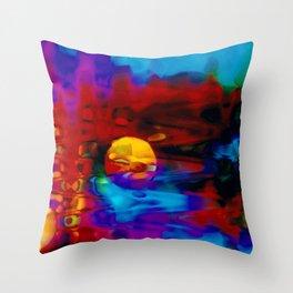 Strange Moon Throw Pillow