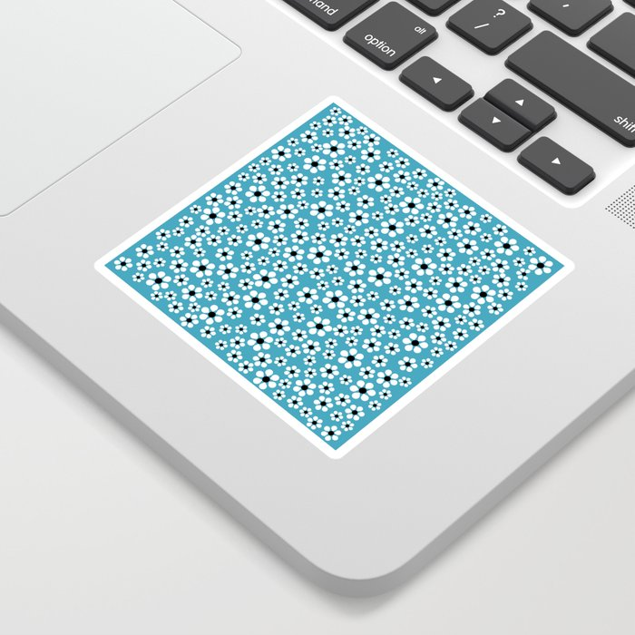 Dizzy Daisies - teal - more colors Sticker