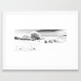 Haresfield In The Snow Framed Art Print
