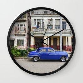 Havana Cuba Cuban Vintage Car Architecture Vedado Urban Street Photography Wall Clock
