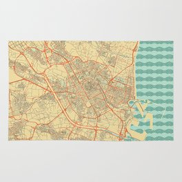 Valencia Map Retro Rug