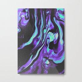 BLACK & BLUE DEVOTION Metal Print