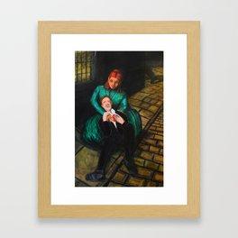 Liz Tries to Inspect Florian's Wound Framed Art Print