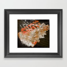 Materials Collage Framed Art Print