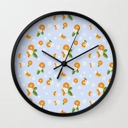 Orange blossom Wall Clock