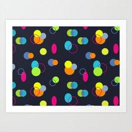 Candies Pattern Art Print