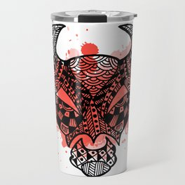 Zodiac Zentangle - Taurus Travel Mug