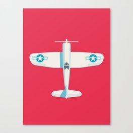 F4U Corsair Fighter Aircraft - Crimson Canvas Print