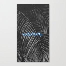 Palm Beach Neon Waves Canvas Print