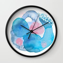 Blue and Pink Thoughts Wall Clock