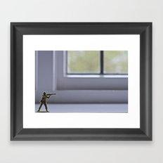Alone Wolf Framed Art Print