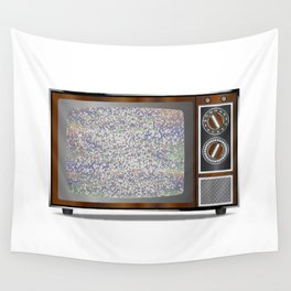 Old Television Static Wall Tapestry