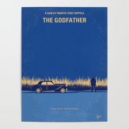No686-1 My Godfather I minimal movie poster Poster