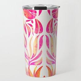 Tropical Toucans – Pink & Melon Ombré Travel Mug