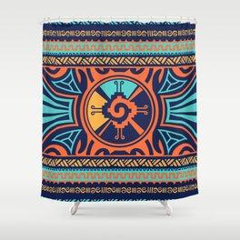 Colorful Hunab Ku Mayan symbol #2 Shower Curtain