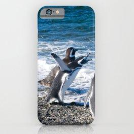 Penguin clique iPhone Case